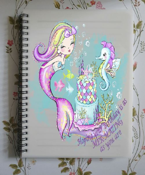 Mer-Mazing Birthday Light Skin A5 Lined Notepad
